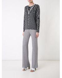Missoni - Black - Blurry Stripes Buttoned Cardigan - Women - Wool - 42 - Lyst