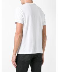 Alexander McQueen - White Skull Embroidered T-shirt for Men - Lyst