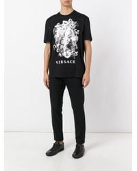 Versace | Black Triple Medusa T-shirt for Men | Lyst
