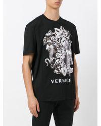 Versace - Black Triple Medusa T-shirt for Men - Lyst