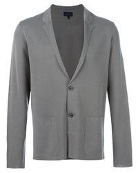 Lanvin | Gray Blazer Design Cardigan for Men | Lyst