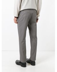 Lanvin | Gray Tailored Straight Fit Trousers for Men | Lyst