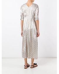 Isabel Marant | Green Zigzag Striped Maxi Dress | Lyst