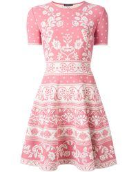 Alexander McQueen - Pink Flared Dress - Lyst