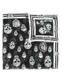 Alexander McQueen | Black Skull Print Scarf | Lyst