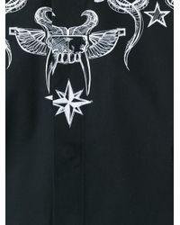 Givenchy   Black Tattoo Print Shirt for Men   Lyst