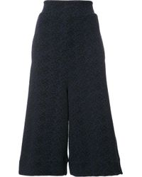 Vivienne Westwood Anglomania | Blue Flared Cropped Trousers | Lyst