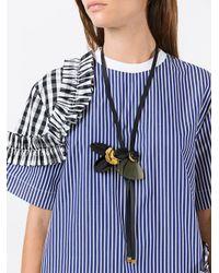Marni - Black Petal Pendant Necklace - Lyst