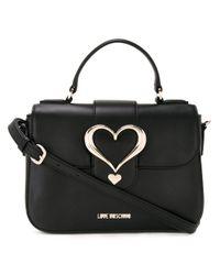 Love Moschino | Black Love Buckle Cross Body Bag | Lyst