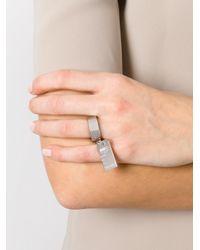 MM6 by Maison Martin Margiela - Metallic Plate Ring - Lyst