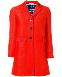 Tory Burch | Red - Samba Coat - Women - Silk/cotton/polyamide - M | Lyst