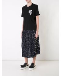 Markus Lupfer | Blue Printed Pleat Skirt | Lyst