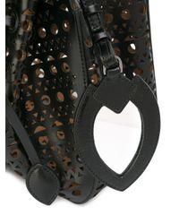 Alaïa - Black Alaïa Cut-out Bucket Tote - Lyst