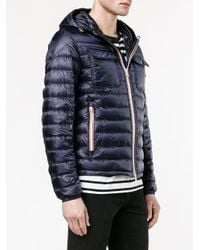 Moncler - Blue Hooded Puffer Jacket for Men - Lyst