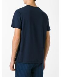 Sunspel - Blue Henley T-shirt for Men - Lyst