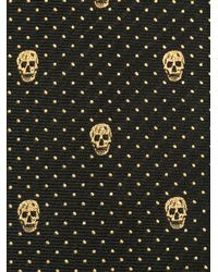 Alexander McQueen - Black Skull And Dots Tie for Men - Lyst