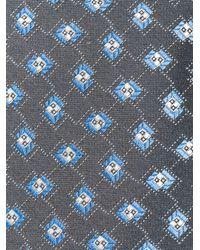 Giorgio Armani - Gray Geometric Pattern Tie for Men - Lyst