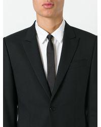 Saint Laurent - Black Signature 3 Star Skinny Tie for Men - Lyst