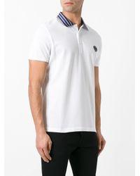 Fendi - White Striped Collar Polo Shirt for Men - Lyst