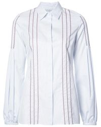 Gabriela Hearst | Blue Stitched Detail Shirt | Lyst