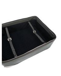 Valextra - Black Leather Zip Suitcase for Men - Lyst