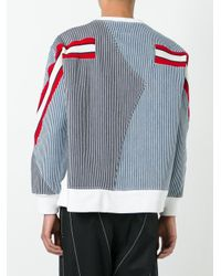 Facetasm - Blue Contrast Stripes Jumper for Men - Lyst