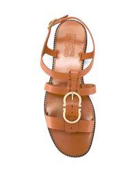 Ferragamo - Brown 'elisir' Sandals - Lyst
