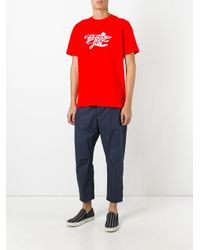 OAMC - Red Lost Paradise T-shirt for Men - Lyst