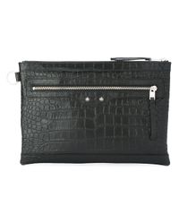 Balenciaga | Black - Crocodile Effect Clutch - Men - Leather - One Size for Men | Lyst