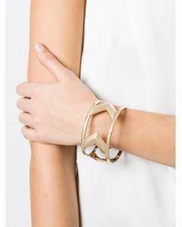 Givenchy - Metallic Large Chevron Bracelet - Lyst