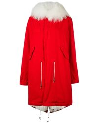 Mr & Mrs Italy | Red Army Parka Coat | Lyst