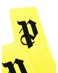 Palm Angels - Yellow Pa Socks for Men - Lyst