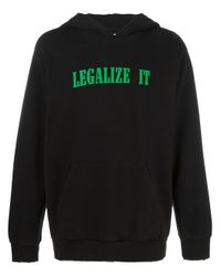 Palm Angels - Black Legalize It Hoodie for Men - Lyst