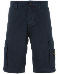 Stone Island | Blue Cargo Shorts for Men | Lyst