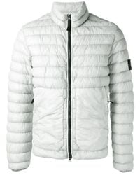 Stone Island | Gray High Neck Down Jacket for Men | Lyst