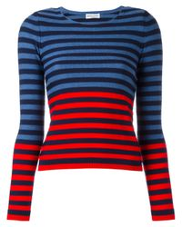 Sonia Rykiel | Blue Striped Jumper | Lyst