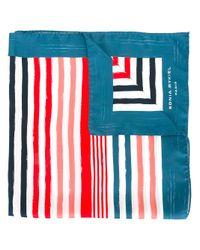 Sonia Rykiel | Blue Striped Scarf | Lyst