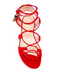 Stuart Weitzman | Red Gladiator Sandals | Lyst