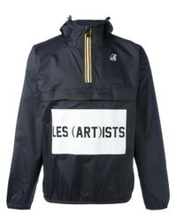 LES (ART)ISTS | Black K-way X Les (art)ists Logo Print Jacket | Lyst