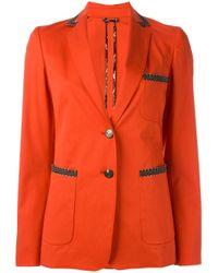 Etro | Red Button Up Blazer | Lyst