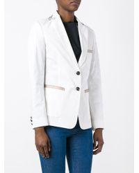 Etro - White Button Up Blazer - Lyst