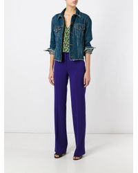 Etro | Purple Flared Trousers | Lyst