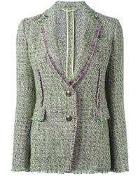 Etro | Green Tweed Blazer | Lyst