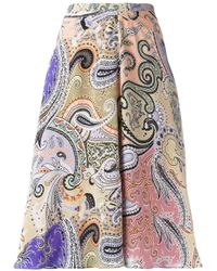 Etro | Multicolor Multi Printed Skirt | Lyst