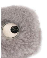 Anya Hindmarch | Gray Eyes Shearling Coin Purse | Lyst