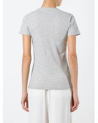 Bella Freud | Gray Distressed Dog T-shirt | Lyst