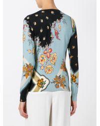 Etro - Blue Floral Print Blouse - Lyst