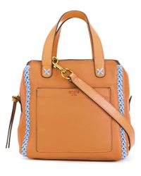 Tory Burch | Brown Mini Whipstitch Satchel | Lyst