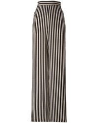 Etro | Black Stripes Flared Trousers | Lyst