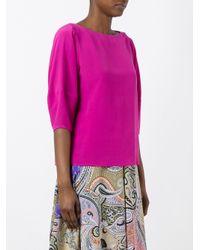 Etro | Pink Plain Blouse | Lyst